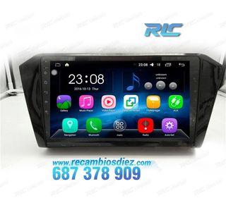 RADIO NAVEGADOR GPS DVD 10,2 ANDROID 6,0 VW PASSA