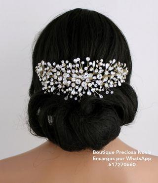 Tocado de cristal de alta calidad diadema tiara