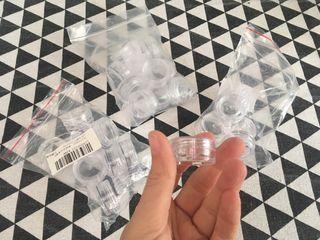 Tarros de plástico para bálsamo labial
