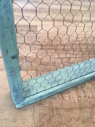 Antiguo marco de cedazo o tamiz de madera