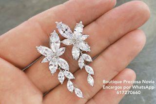 Pendientes de cristal de alta calidad joya novia
