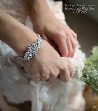 Pulsera de cristal de alta calidad joya para novia