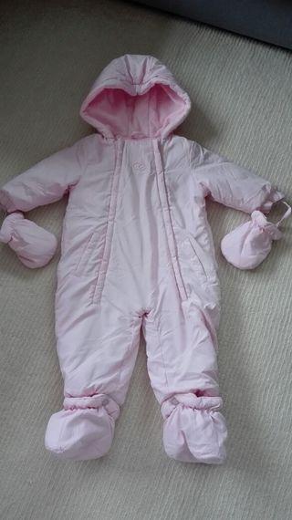 buzo en rosa claro 3/6m. bebé. niña