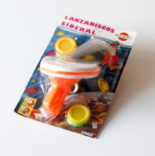 Antiguo juguete Lanzadiscos Sideral. Marca Brekar.