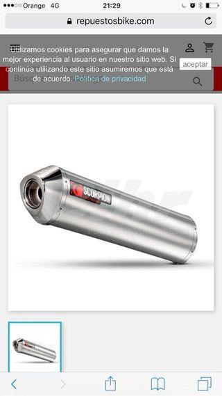 Oferta tubo de escape suzuki 650 bandit gsx f