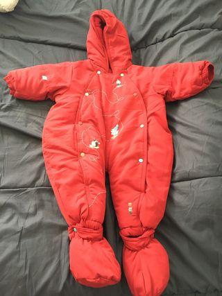 Buzo bebé rojo 9 meses