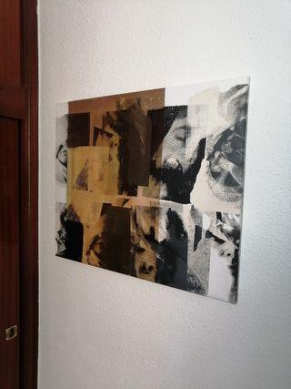 Lienzo sobre tela abstracto femenino
