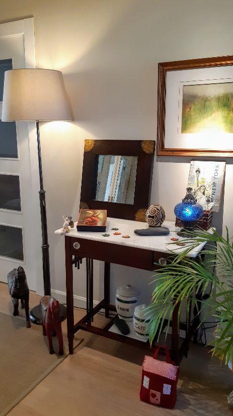Espejo en madera de teca