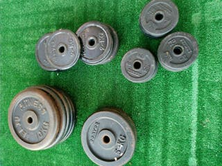 Discos pesas, musculación