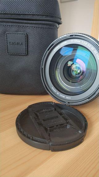 Objetivo Sigma 17-50 2.8 EX DC OS (Canon)