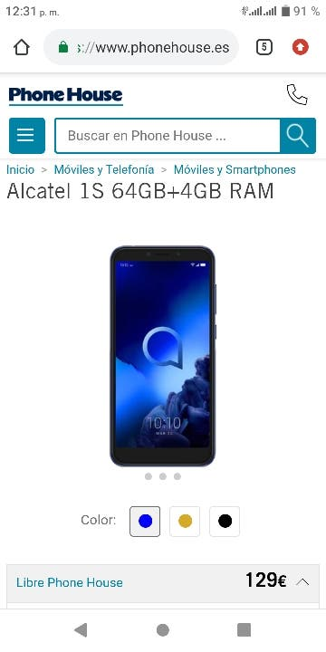 Alcatel 1s 64g 4g ram
