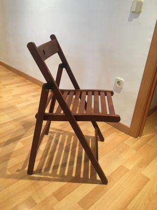 4 sillas plegables madera ikea