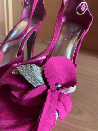 Zapatos tacón rosa fucsia MaryPaz