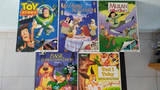 Libros Disney. 5 libros-comic catalán-inglés