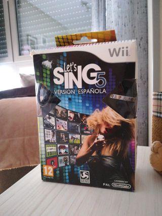 let's Sing 5 Wii (precio negociable)