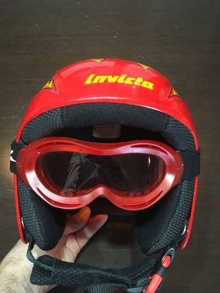 Casco y gafas ski, Invicta.