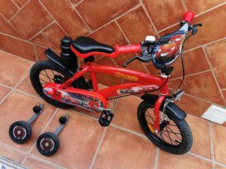 Bicicleta 14 pulgadas Cars 3