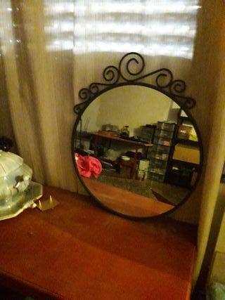 Espejo Hierro Forjado redondo