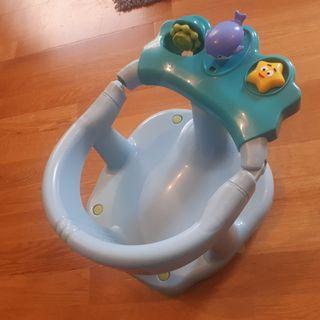 asiento soporte para bañera bebe azul