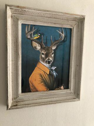 Cuadro ciervo 33 x 40