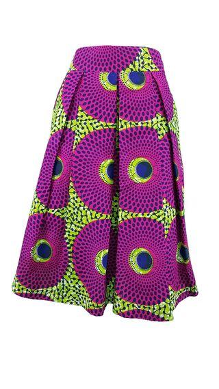 Falda Midi de Telas africanas wax