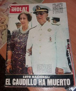 Revistas Hola:Franco / Carmen Polo