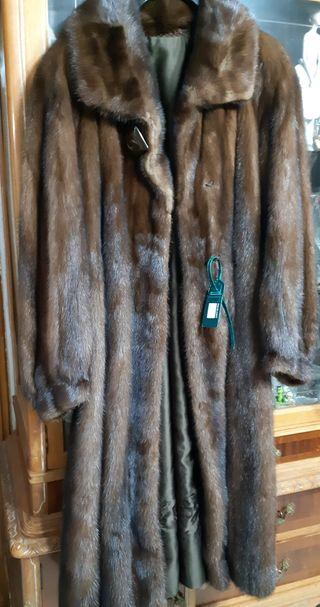abrigo de vison marron