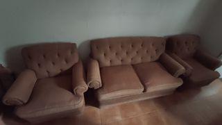 Sofa 2 plazas y dos sillones