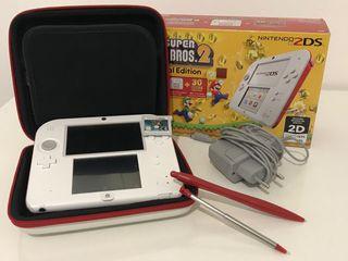 Nintendo 2ds + 2 juegos, accesorios y REGALO