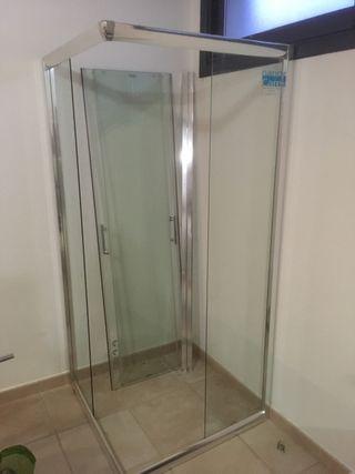 Mampara de ducha esquinera