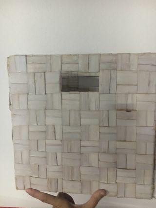 3 cajas se bambu blanco