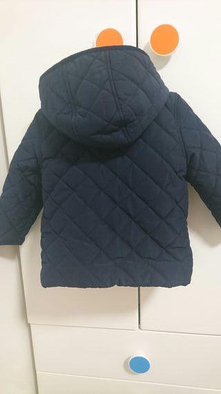 Abrigo bebé 9-12 meses azul oscuro