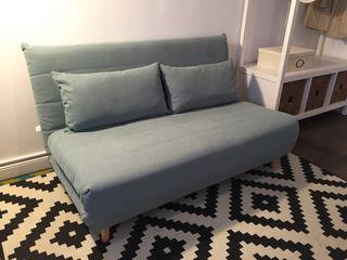 Sofa cama de 2 plazas verde agua
