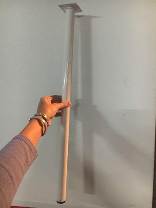 2 patas blancas 64cm x 3cm de diametro