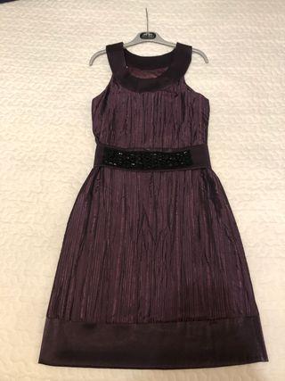 Vestido fiesta morado negro