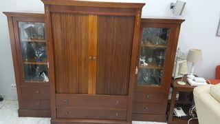 Mueble salón madera de Cerezo macizo.