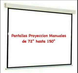 Pantallas Manuales de Proyeccion.