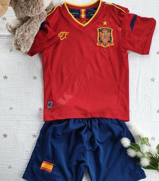 Equipación oficial selección española talla 2