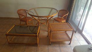 Conjunto muebles mimbre (Náquera, Valencia).