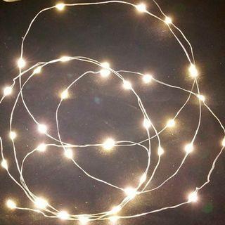 Guirnalda 160 luces LED 8 funciones blanco cálido