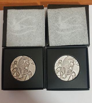 Monedas 5 Onzas plata pura 999%.EL CHAD.