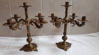 candelabro de bronce antiguo