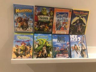 Lote 8 películas DVD originales infantiles