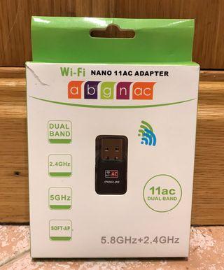 Adaptador usb antena wifi doble banda