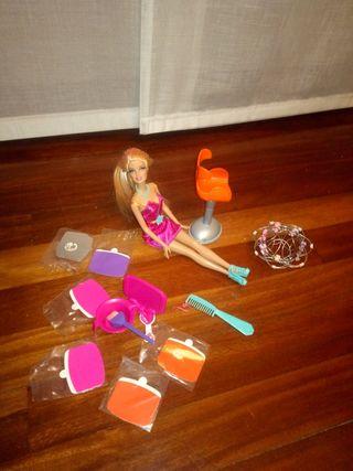 Barbie mechas peluqueria juguetes