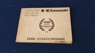 kawasaki zx600 gpz600 piezas