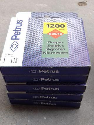Lote grapas PETRUS 530/4 530/8 530/10