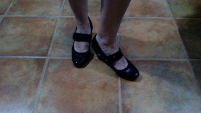 zapatos negro charol talla 40