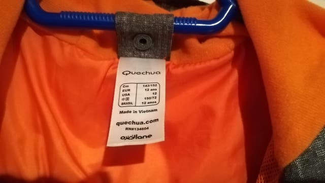Cazadora de Quechua impermeable 2 prendas en una