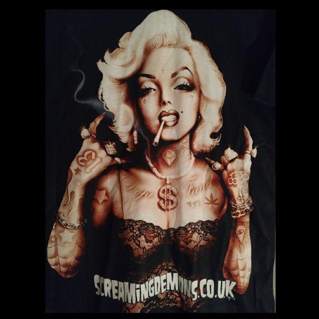 Nueva A Estrenar.Camiseta Marylin Tatuajes/Rockera